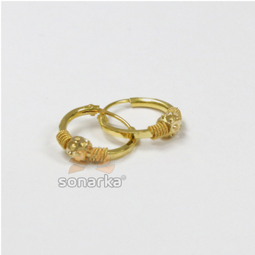 916 Gold Ladies Fancy Kadi Earrings by sonarKa