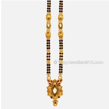 22K Gold Modern Beads Mangalsutra