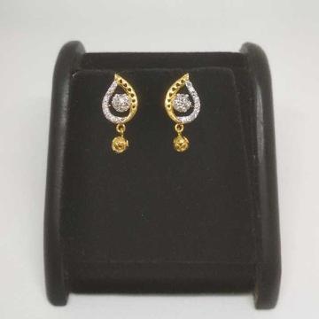 22 K Gold Fancy Earring. NJ-E0930