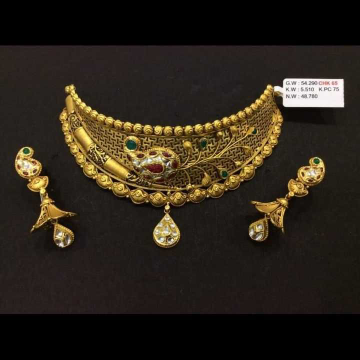 22 K Gold Fancy Necklace Set. NJ-N01145