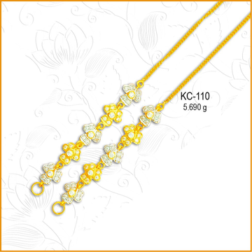 916 Gold Attractive CZ Diamond Kanser KC-110