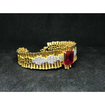 18k Ladies Fancy Gold Bracelet K-51046