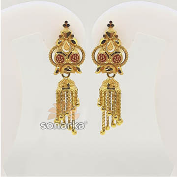 22KT Classic Gold Jumkha Earrings For Women