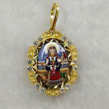 916 Gold Khodiyar Maa Photo Pendant