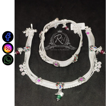 silver heavy designer payal RH-LP384