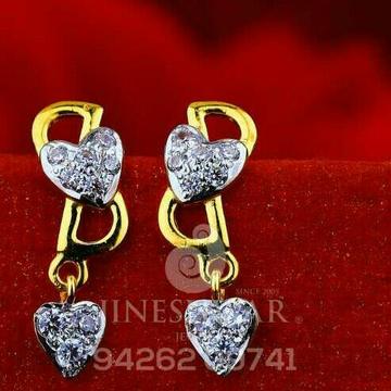 18kt simple Fancy Cz Gold Ladies Tops ATG -0411