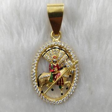 916 Gold Ramdevpir Gent's pendant