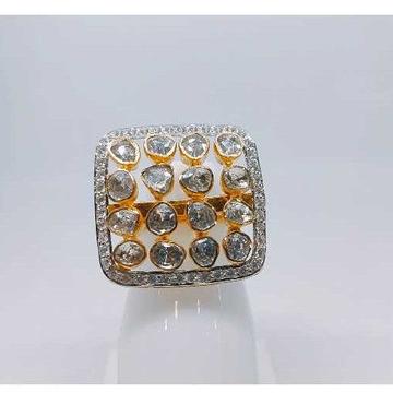 18k Ladies Fancy Gold Ring Lr-24074