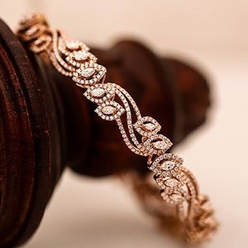 real diamond rose gold bracelet by
