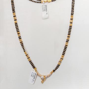 CZ stone mangalsutra 22crt by Parshwa Jewellers