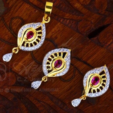 22 ct 916 gold pendant set by
