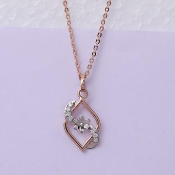 18 carat gold real daiminds classical ladies pendants RH-LP958