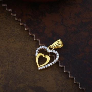 916 Gold heart CZ  pendal RH-CH022