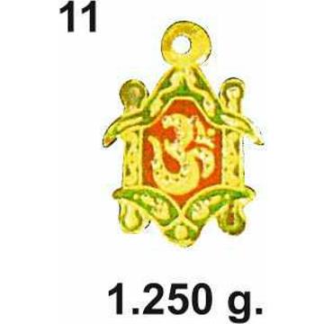 22KT Gold Om Pendant