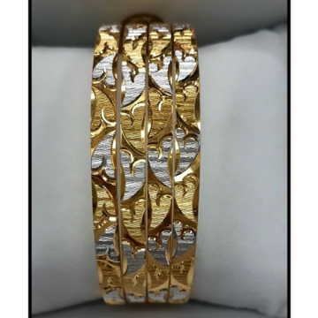 916 GOLD ART DECOR OF FERMS BANGLE BL0015