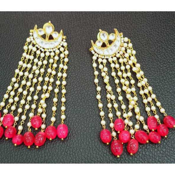 Beautiful Pink And White Kundan's Earrings Famous Actress Rekhaji Wearing This Type Of Jewelleries