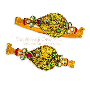 916 Gold Designer Jadtar Copper Kadali Bangle - 0015