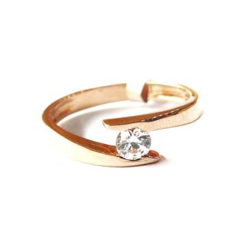 18k rose gold soliter diamond ring mga - rgr0024