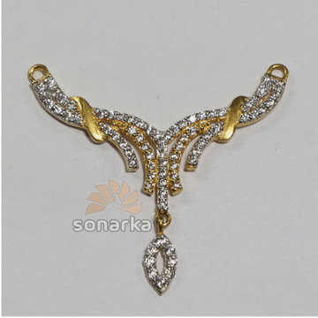 Tanmaniya Pendants 22k gold American Diamond Studded