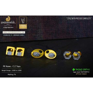 18kt Srylish Cz Gold Ladies Tops ATG -0735