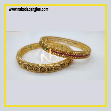 916 Gold Chakri Bangles NB - 862