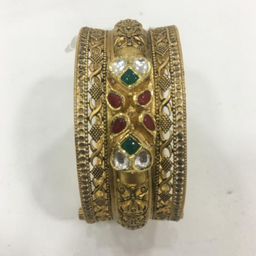 916 Gold Fancy Color stone Kada For Wedding KV-B003