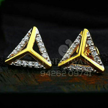 18kt Triangle Shape Cz Gold Ladies Tops ATG -0122