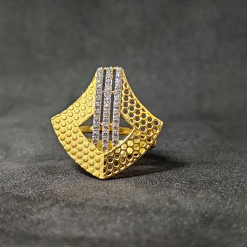 Women's Fashionable Outwear Dull Finishing 22K Gold Ring-15027