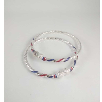 Silver Fancy Bangles. NJ-B01053