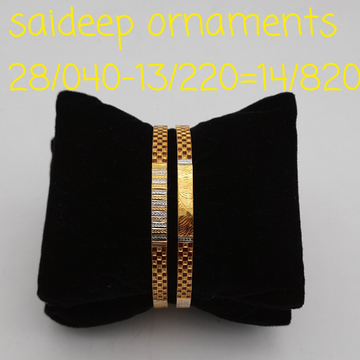 22 ct 916 copper bangle lightweight by Saideep Jewels