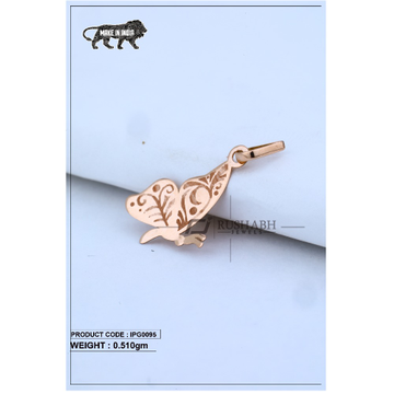 18 Carat Italian pendent rose gold butterfly shape ipg0095
