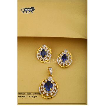 22 Carat 916 Gold Ladies colour stone pendent set cpg0013