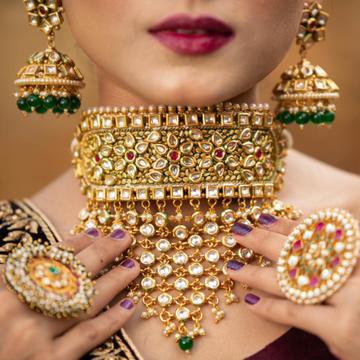 Rajasthani Traditional rajputi bridal jewellery (aad) 1127