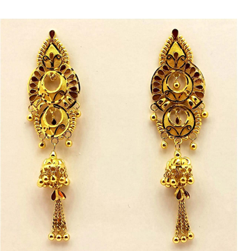 22k Gold plain earring