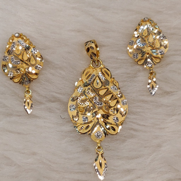 Rohdium Pendant Set by Gold & Silver Palace