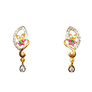 22K Gold Flower Shaped Earrings MGA - BTG0227