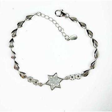 Fancy 925 Silver Ladies Bracelet With Star