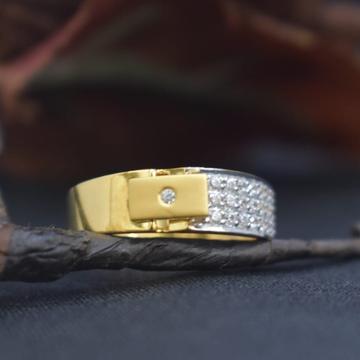 916 Gold CZ Fancy Ring MK-R08 by