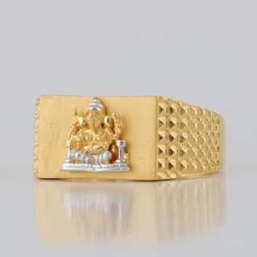 22 Carat gold gents ganesh ring  RH_vt110