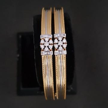 gold fancy diamond bangle kj-b03