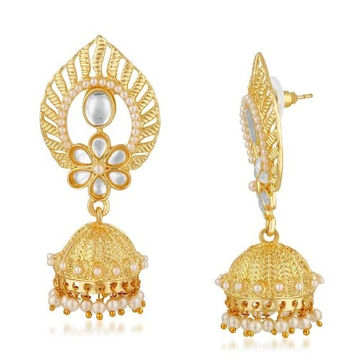 22kt, 916 Hm, Yellow Gold textured earrings with Jummar Jke103.