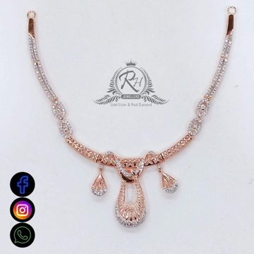 22 carat gold daimond necklace set design RH-NS542