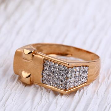 750 Rose Gold Hallmark Exclusive Mens Ring RMR86