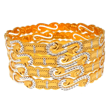 1 gram gold forming fancy bangles mga - bge0308