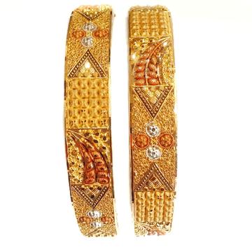 22k gold fancy designer patla bangles mga - gp034