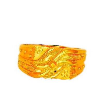 22K Plain Gold Designer Exclusive Gents Ring