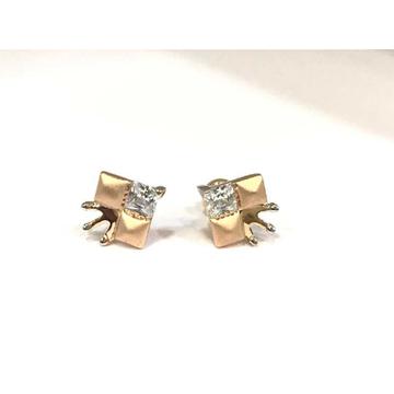 18k ladies fancy single stone earring e-60502