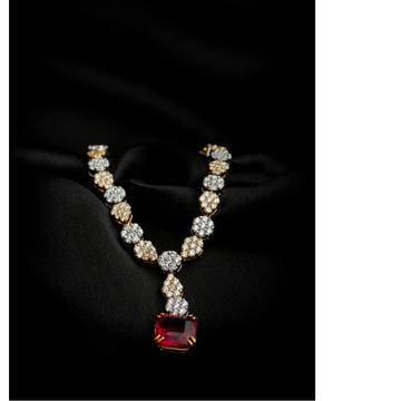 18KT Real Diamond Ladies Designer Necklace