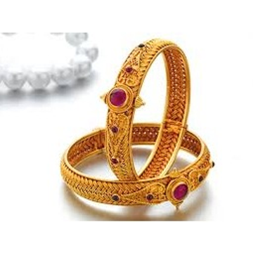 22KT Gold Designer Bangles MK-B02 by