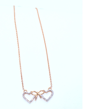 18KT Rose Gold 2 hart shape Pendant special Valentine day gift for Ladies CHG0272